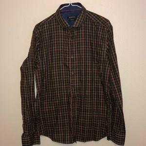 Bugatchi Men's Shaped Fit Button Down Shirt